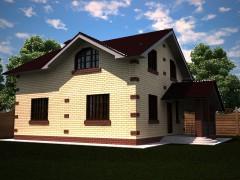 Проект хорошего дома с мансардой