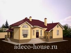 Небольшой дом с террасой и мансардным этажом с тремя спальными комнатами