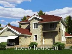 Проект  дома с двумя этажами индивидуальной планировки