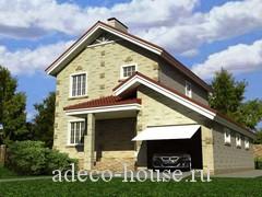 Особенный проект  двухэтажного дома с большим гаражом и террасой для семьи предпочитающей комфортные дома