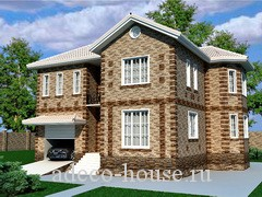 Комфортный дом с двумя этажами гаражом и большим количеством спальных комнат