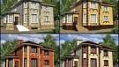 4 цвета фасадов